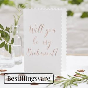 Kort, will you be my bridesmaid - 5 stk