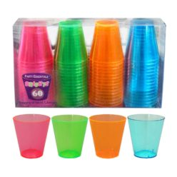 UV Shotsglass, multicolor - 60 stk